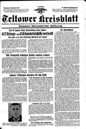 Teltower Kreisblatt vom 08.12.1942
