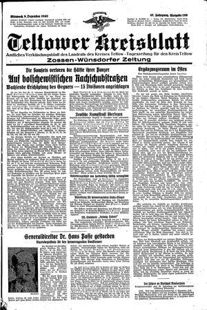 Teltower Kreisblatt vom 09.12.1942