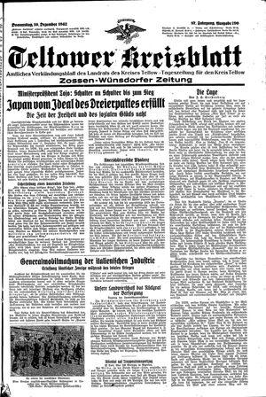 Teltower Kreisblatt vom 10.12.1942