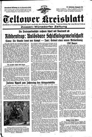 Teltower Kreisblatt vom 12.12.1942