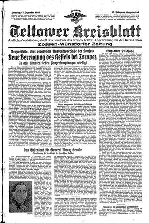 Teltower Kreisblatt vom 15.12.1942