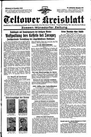 Teltower Kreisblatt vom 16.12.1942