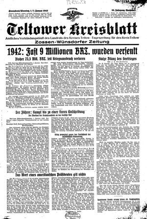 Teltower Kreisblatt vom 02.01.1943