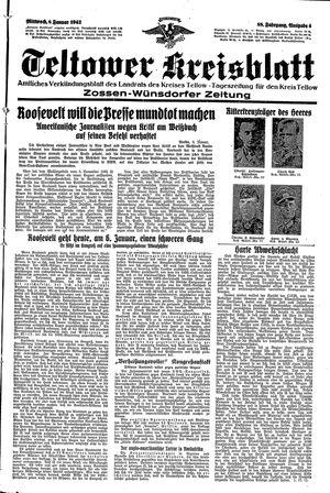 Teltower Kreisblatt vom 06.01.1943