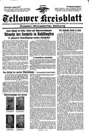 Teltower Kreisblatt vom 07.01.1943