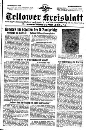 Teltower Kreisblatt vom 08.01.1943