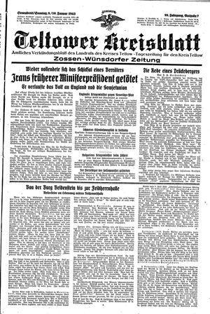 Teltower Kreisblatt vom 09.01.1943