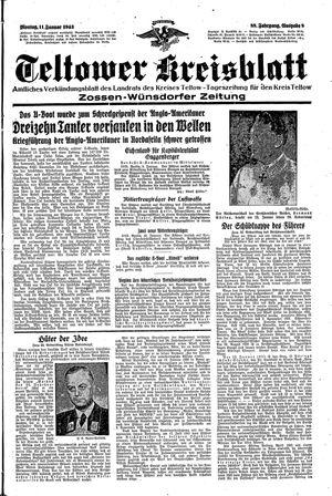 Teltower Kreisblatt vom 11.01.1943