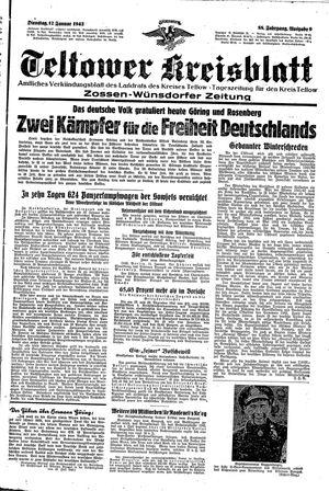 Teltower Kreisblatt vom 12.01.1943