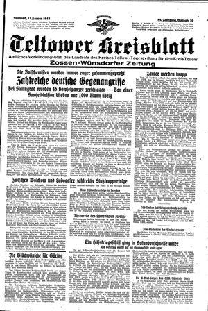 Teltower Kreisblatt vom 13.01.1943