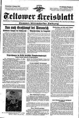 Teltower Kreisblatt vom 14.01.1943