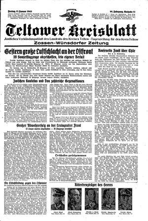 Teltower Kreisblatt vom 15.01.1943