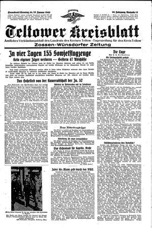 Teltower Kreisblatt vom 16.01.1943