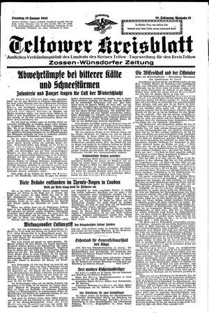 Teltower Kreisblatt vom 19.01.1943