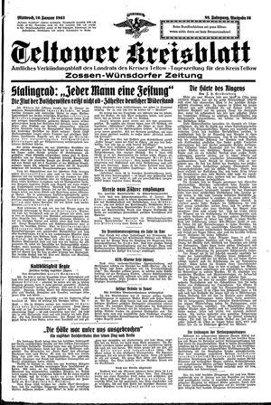 Teltower Kreisblatt vom 20.01.1943
