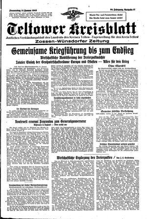 Teltower Kreisblatt vom 21.01.1943