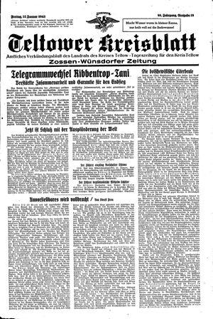 Teltower Kreisblatt vom 22.01.1943
