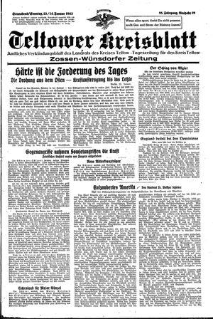 Teltower Kreisblatt vom 23.01.1943