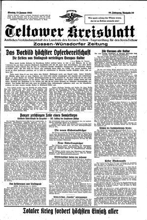 Teltower Kreisblatt vom 25.01.1943