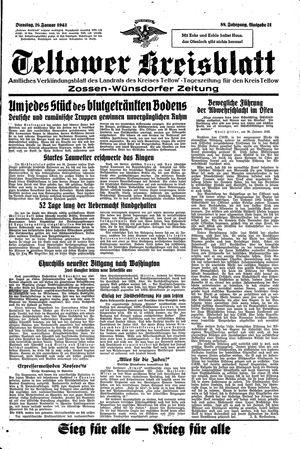 Teltower Kreisblatt vom 26.01.1943