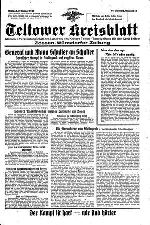 Teltower Kreisblatt vom 27.01.1943