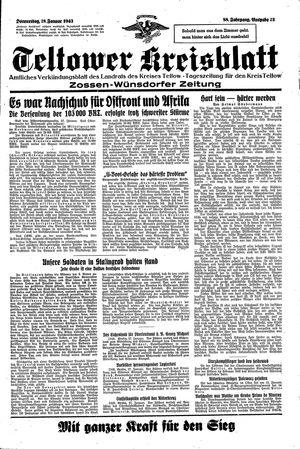 Teltower Kreisblatt vom 28.01.1943