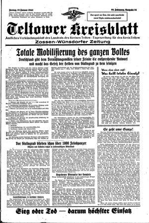 Teltower Kreisblatt vom 29.01.1943