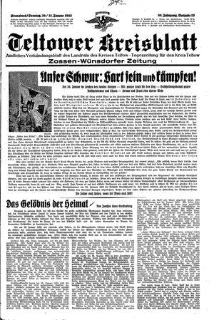 Teltower Kreisblatt vom 30.01.1943