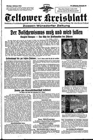 Teltower Kreisblatt vom 01.02.1943