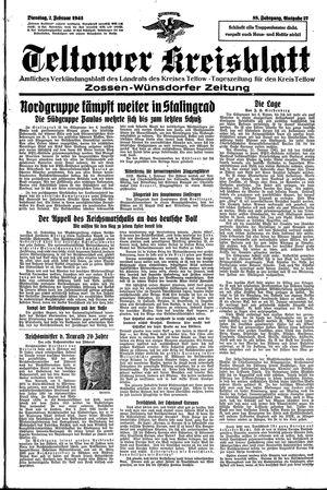 Teltower Kreisblatt vom 02.02.1943