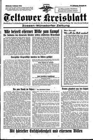 Teltower Kreisblatt vom 03.02.1943