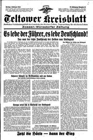 Teltower Kreisblatt vom 05.02.1943