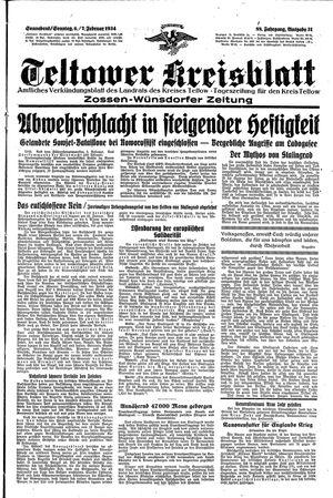Teltower Kreisblatt vom 06.02.1943