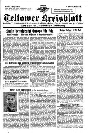 Teltower Kreisblatt vom 09.02.1943