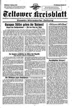 Teltower Kreisblatt vom 10.02.1943