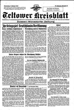 Teltower Kreisblatt vom 11.02.1943