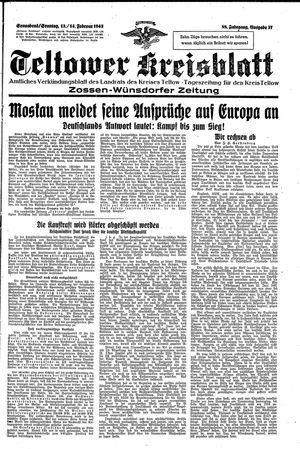 Teltower Kreisblatt vom 13.02.1943
