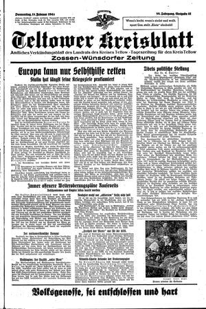Teltower Kreisblatt vom 18.02.1943