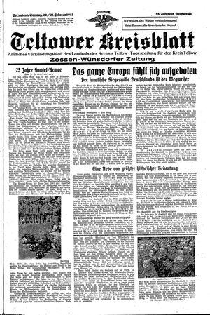 Teltower Kreisblatt vom 20.02.1943