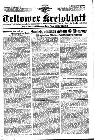 Teltower Kreisblatt vom 24.02.1943