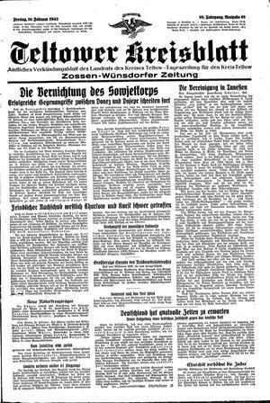 Teltower Kreisblatt vom 26.02.1943