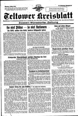Teltower Kreisblatt vom 01.03.1943