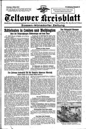Teltower Kreisblatt vom 02.03.1943