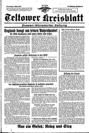 Teltower Kreisblatt vom 04.03.1943