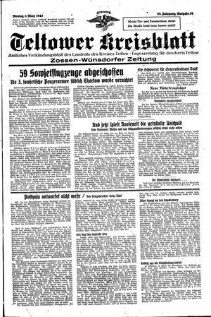 Teltower Kreisblatt vom 08.03.1943