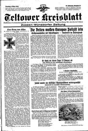 Teltower Kreisblatt vom 09.03.1943