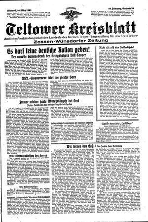 Teltower Kreisblatt vom 10.03.1943