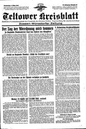 Teltower Kreisblatt vom 11.03.1943