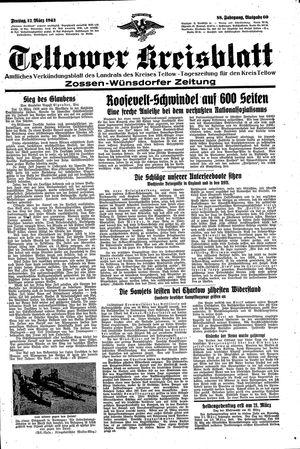 Teltower Kreisblatt vom 12.03.1943