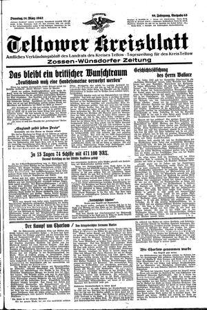 Teltower Kreisblatt vom 16.03.1943